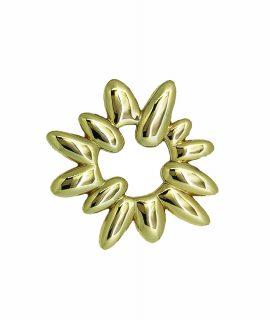 Edelweiss Schleifenklammer Gold
