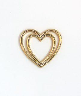 Herz Schleifenklammer Gold