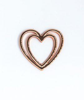 Herz Schleifenklammer Roségold