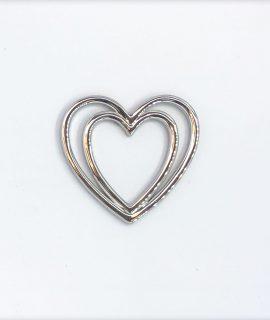 Herz Schleifenklammer Silber